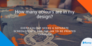 How many colours are in my t-shirt design?