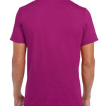 Gildan Softstyle t-shirt - berry- back