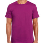 Gildan Softstyle t-shirt - berry- front