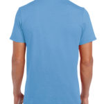 Gildan Softstyle t-shirt - carolina blue- back