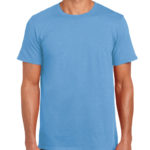 Gildan Softstyle t-shirt - carolina blue- front