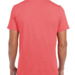 Gildan Softstyle t-shirt - coral silk- back