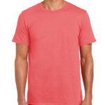 Gildan Softstyle t-shirt - coral silk - front