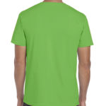Gildan Softstyle t-shirt - electric green- back