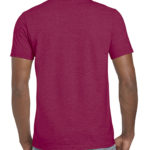 Gildan Softstyle t-shirt - heather cardinal- back