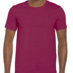 Gildan Softstyle t-shirt - heather cardinal- front
