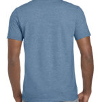 Gildan Softstyle t-shirt - heather indigo- back