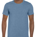 Gildan Softstyle t-shirt - heather indigo- front