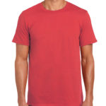 Gildan Softstyle t-shirt - heather red- front