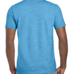 Gildan Softstyle t-shirt - heather sapphire- back