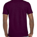 Gildan Softstyle t-shirt - maroon- back
