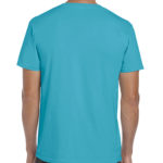 Gildan Softstyle t-shirt - tropical blue -back