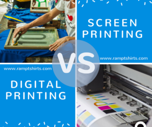 What's the difference? Screen Printing vs Digital Printing