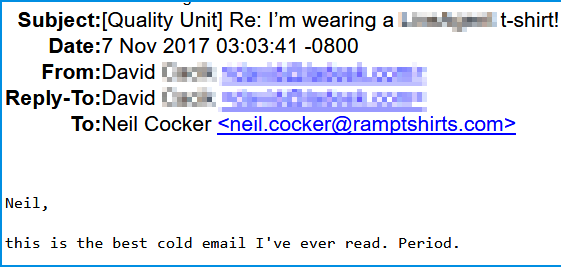 Best cold email - positive response -2